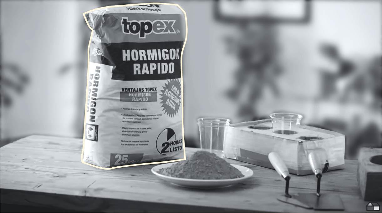 hormigón de secado rápido para preparar la mezcla