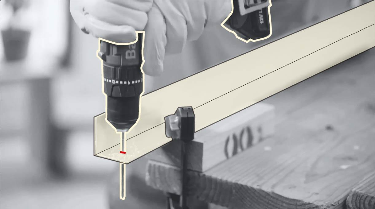 perforar con broca para metales los perfiles