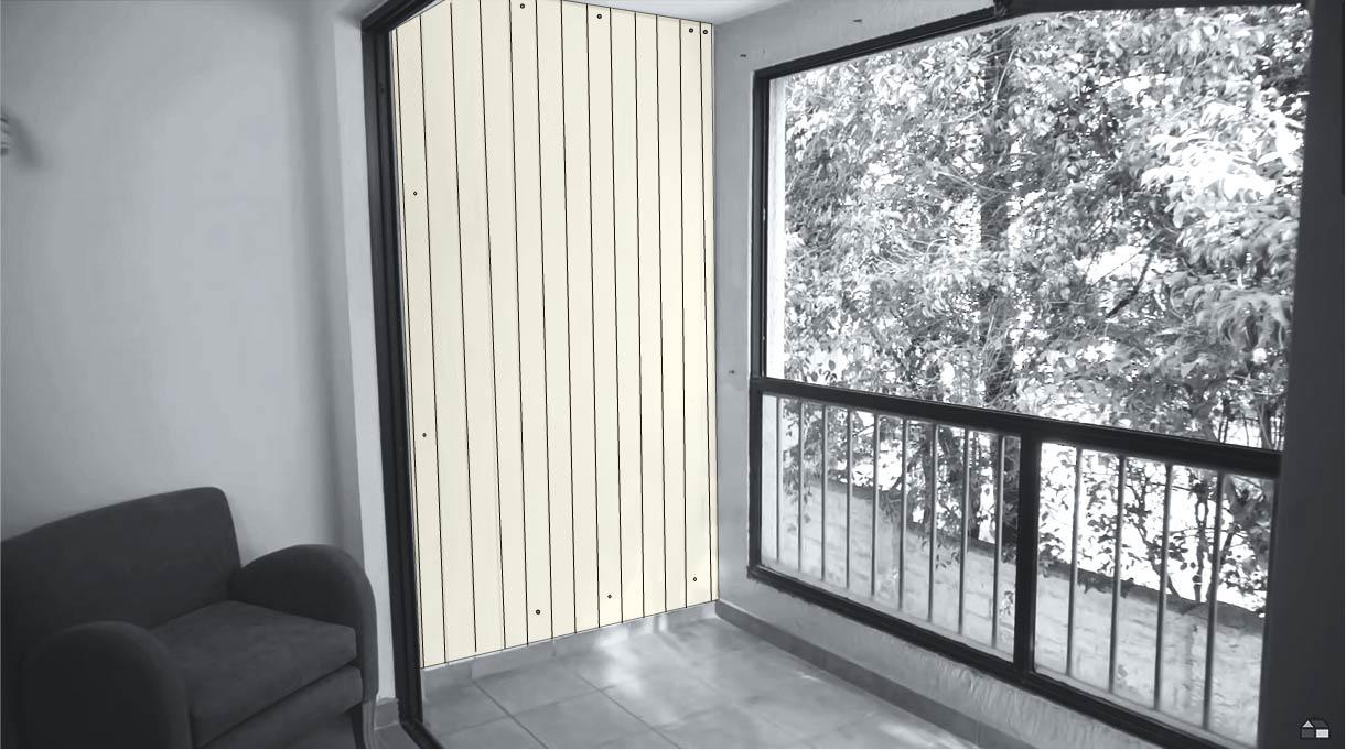 acondicionar un espacio en la terraza para poner los maceteros de cemento