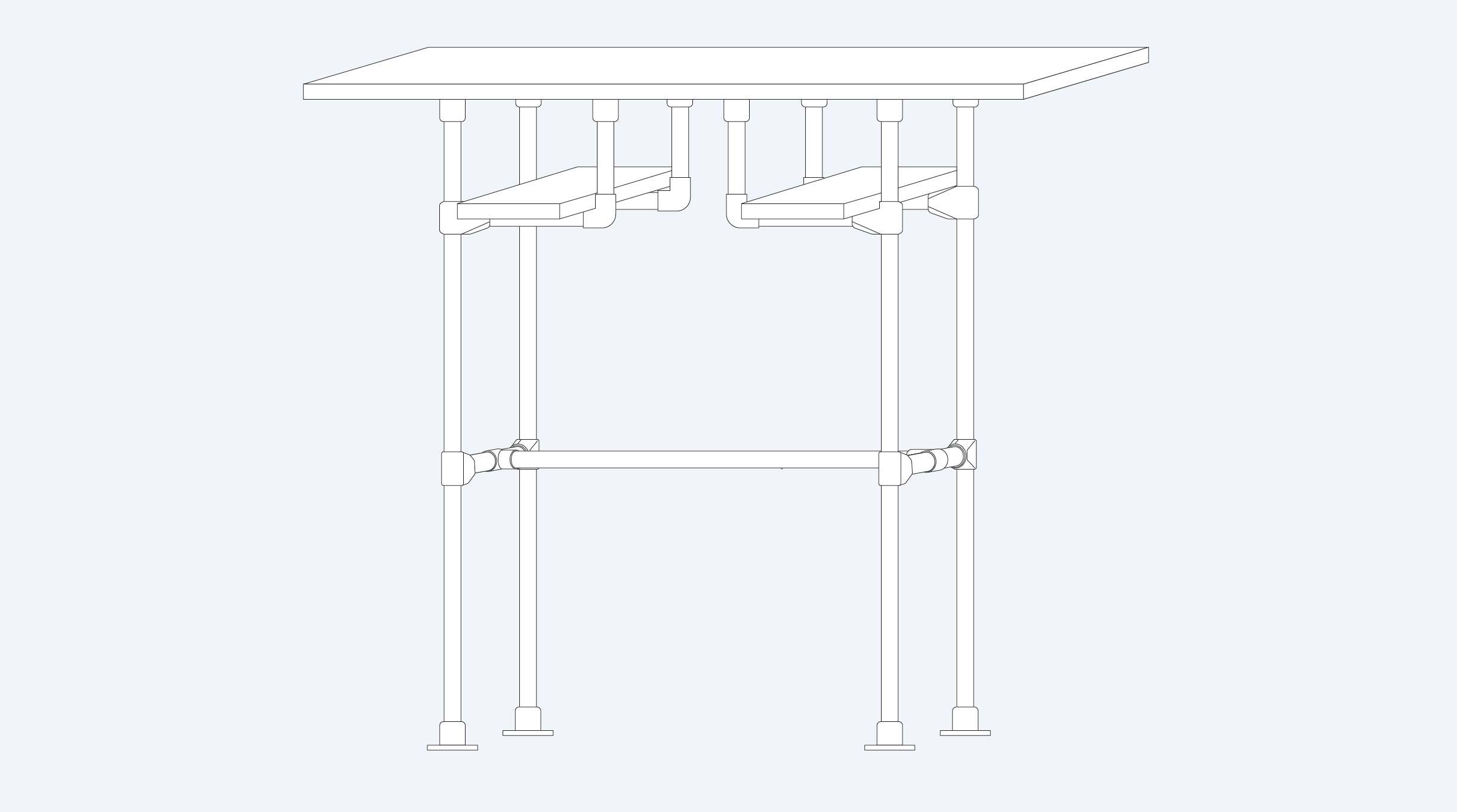 escritorio de pie industrial