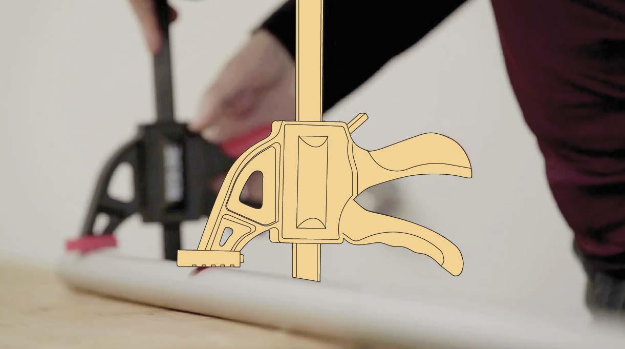 usar prensa sargento para cortar los tubos