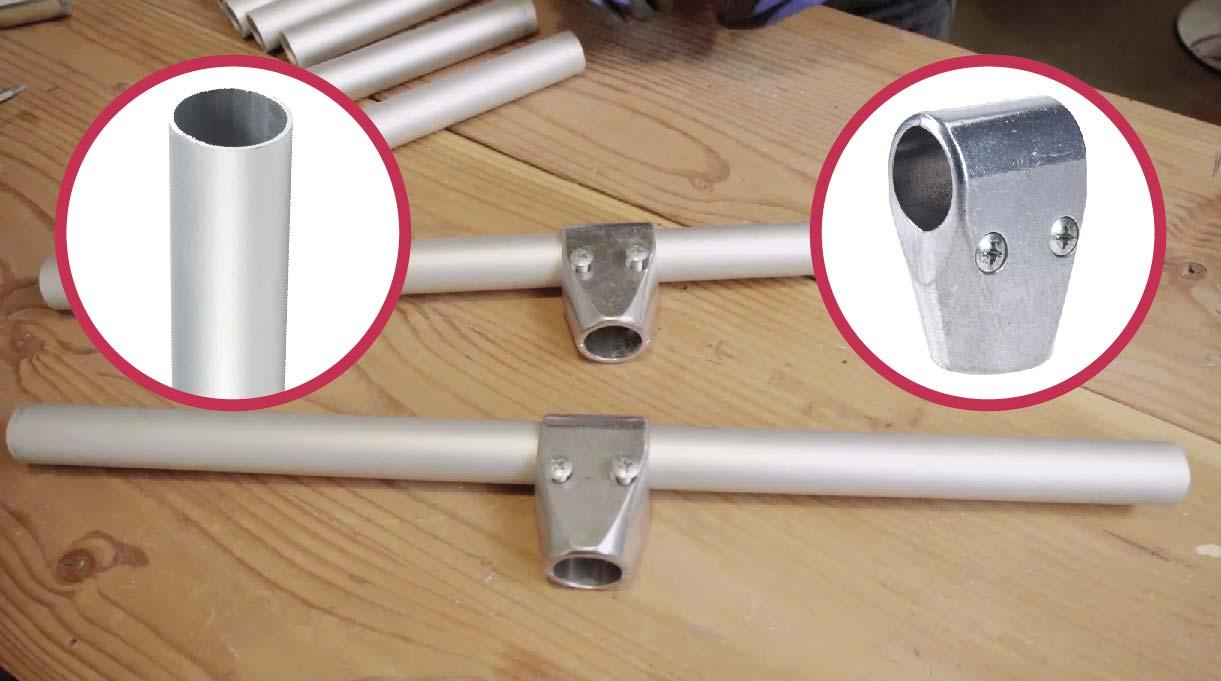 Pasar una unión doble con perno por los tubos más largos