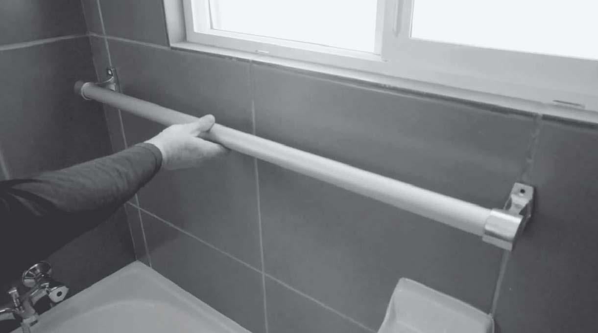 barra de seguridad para la ducha