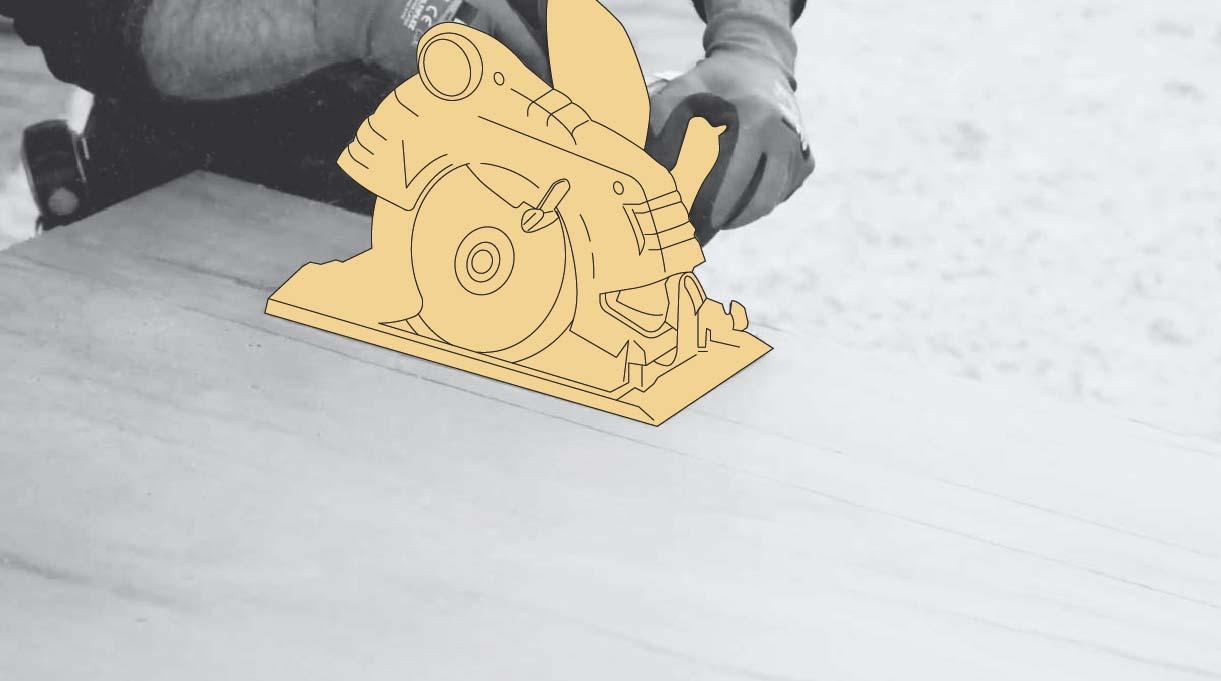 cortar el terciado con sierra circular