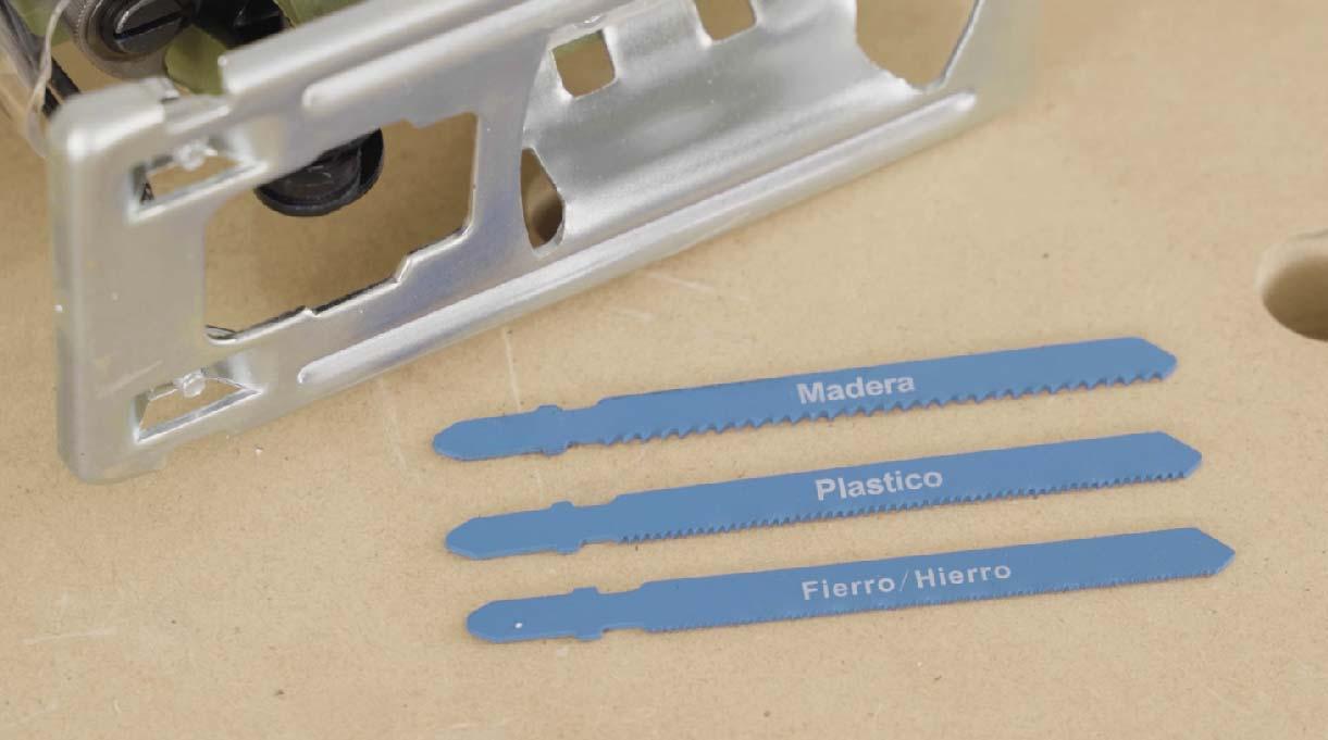 Hoja para madera, plástico y fierro o hierro de la sierra caladora