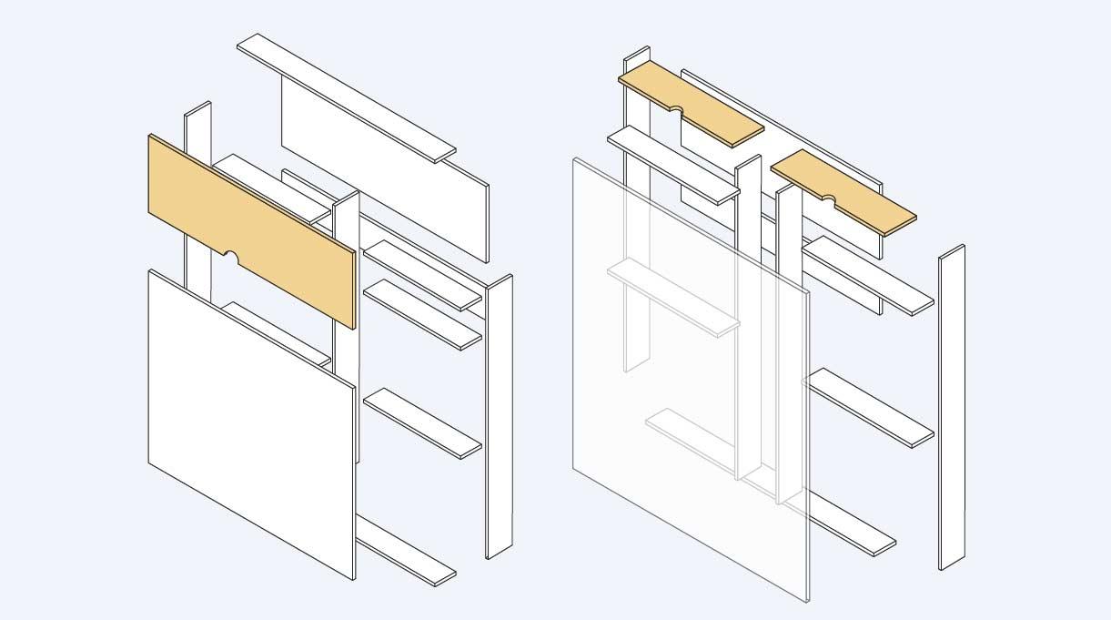 calar y lijar los cortes que son las tapas laterales del maxi respaldo para cama