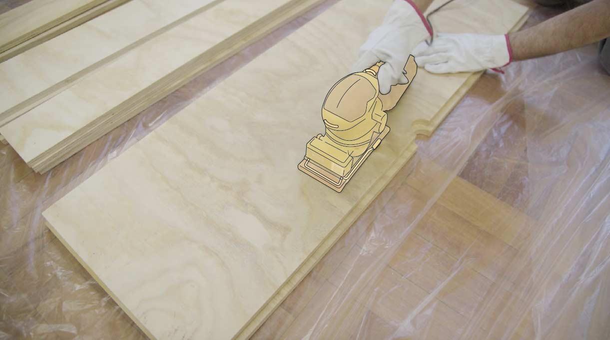 Lijar la madera con lijadora orbital