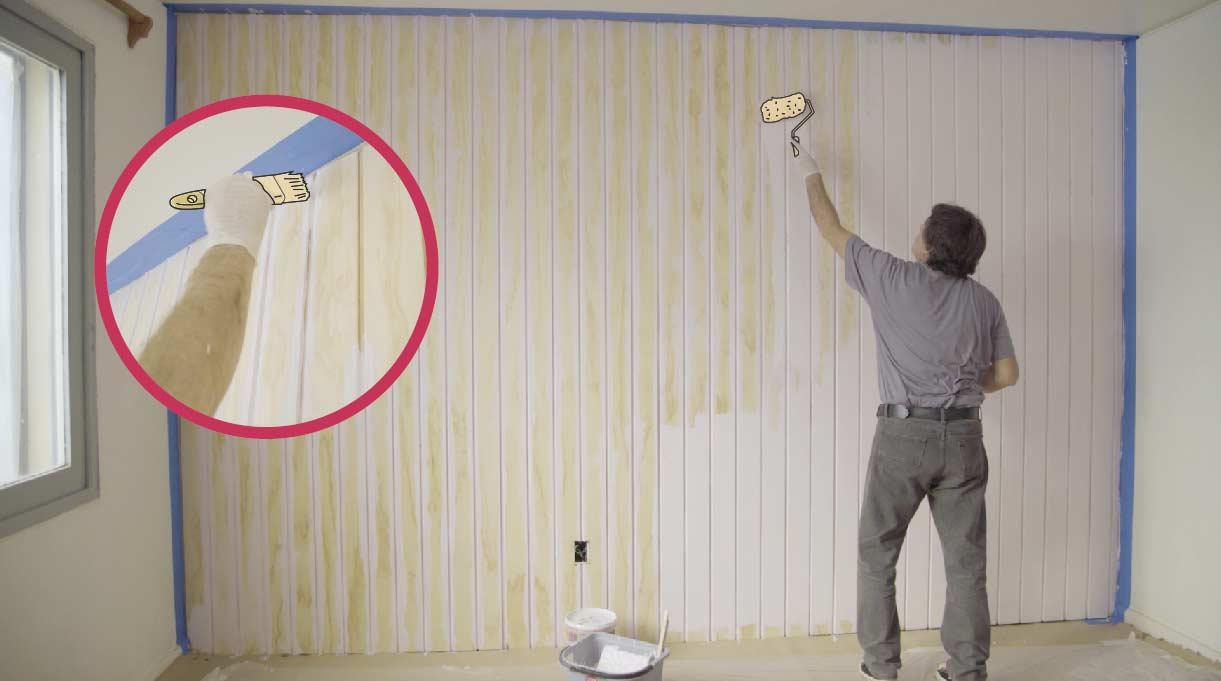 Pintar el terciado del muro