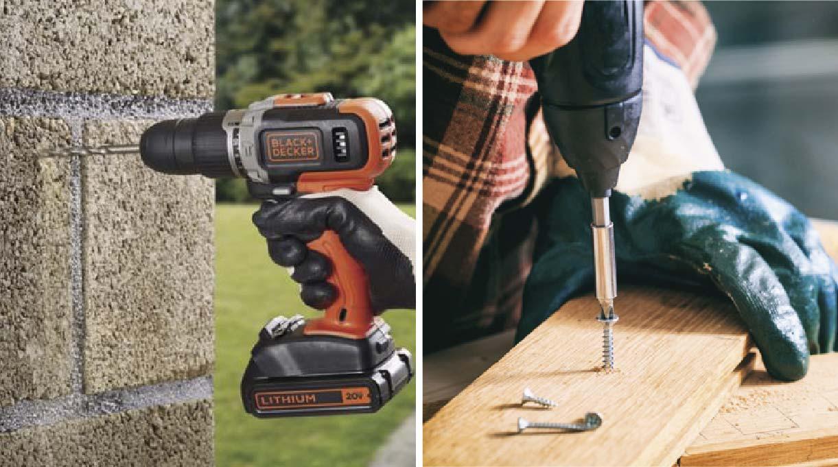 Esta herramienta sirve para hacer agujeros con su función de taladro y, por otra parte, sirve para atornillar y desatornillar pernos y tornillos