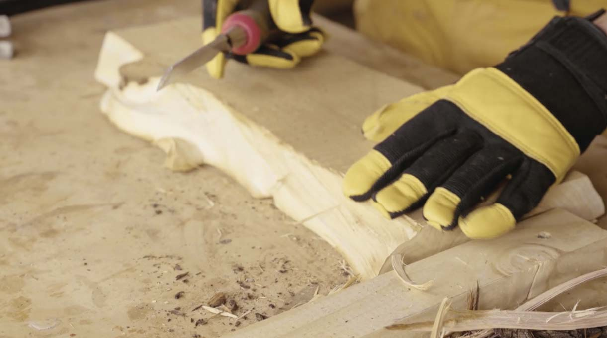 despunte de madera sin la corteza