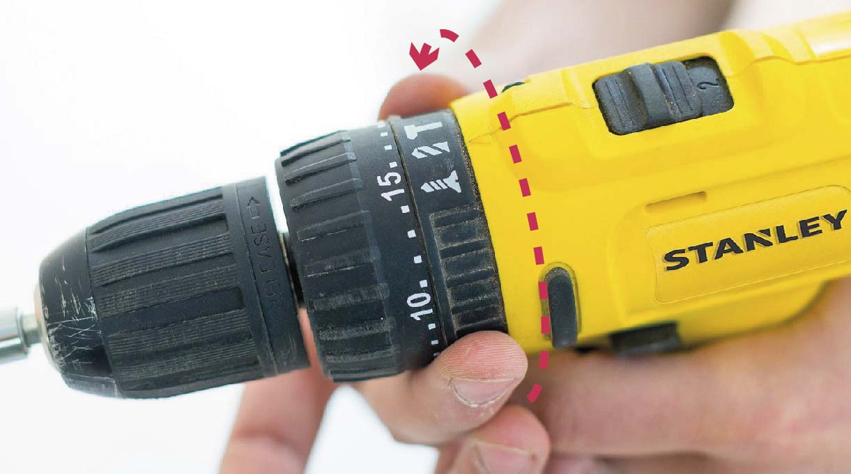 El taladro atornillador puede traer diversas funciones incorporadas