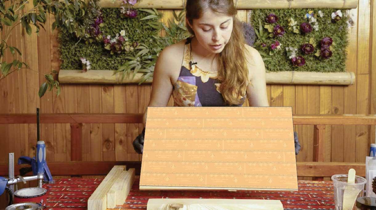 Coloca cinta térmica en la base de madera para poder armar el molde