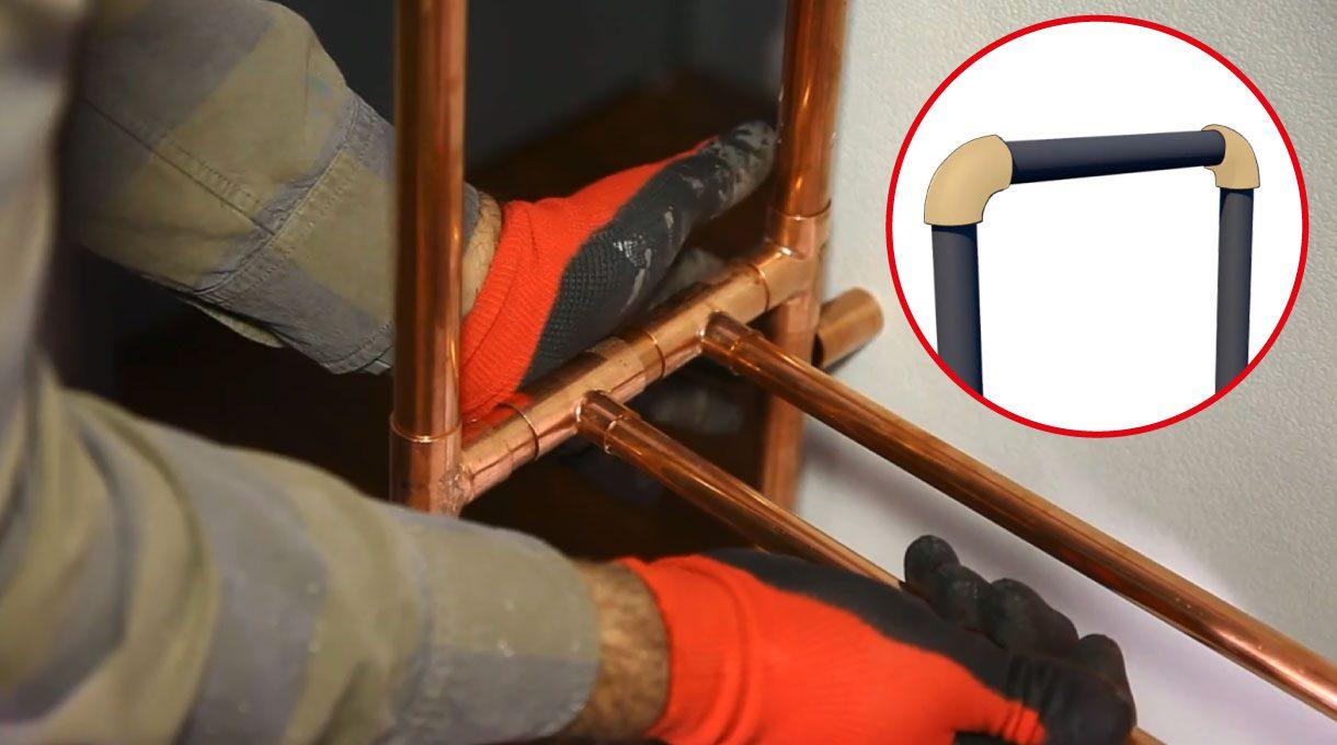 para unir e instalar los tubos hay que comenzar uniendo todos los tubos de una columna para comprobar que calcen en tamaño. Luego, se pegan con el pegamento.